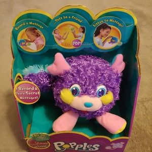 Popples Vintage Pop n' Mini Message Popple